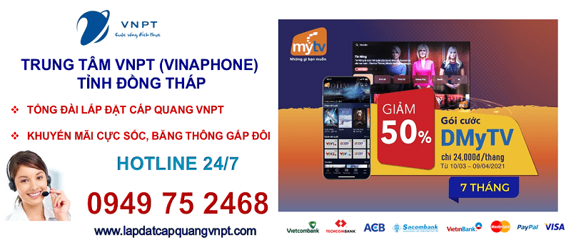 Lắp mạng cáp quang VNPT Đồng Tháp