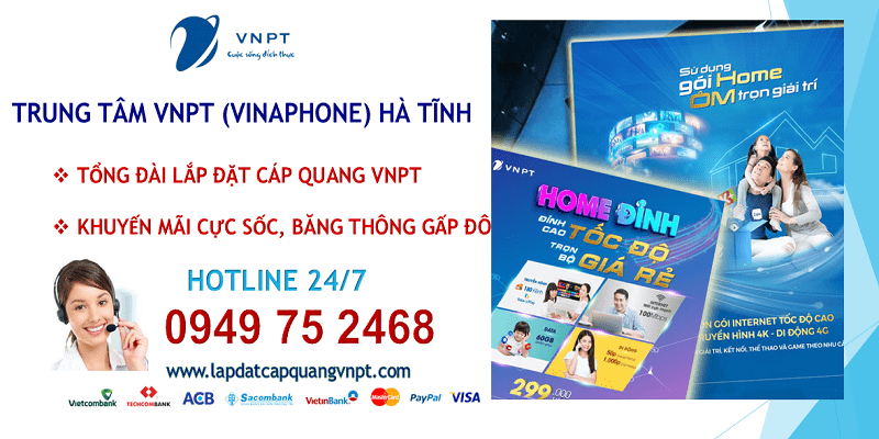 Lắp mạng cáp quang VNPT tại Hà Tĩnh
